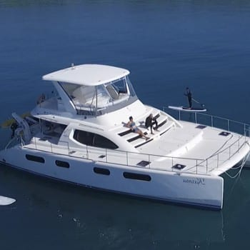 Whitsunday Escape Power Catamaran Leopard 47 Bareboat Charter Hire Australia