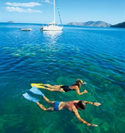 Snorkelling at Hook Island = Whitsunday Escape bareboat charters