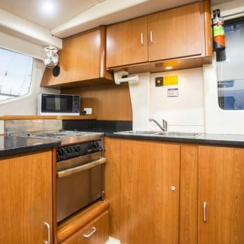 Whitsunday Escape power catamaran Leopard 47 Galley