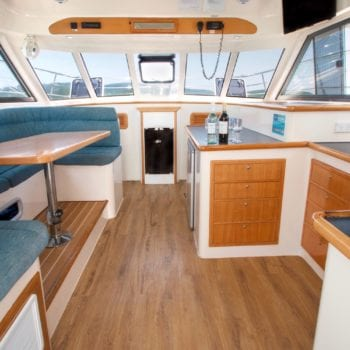 Whitsunday Escape Voyager 1040 Power Catamaran Saloon Looking Forward 1500