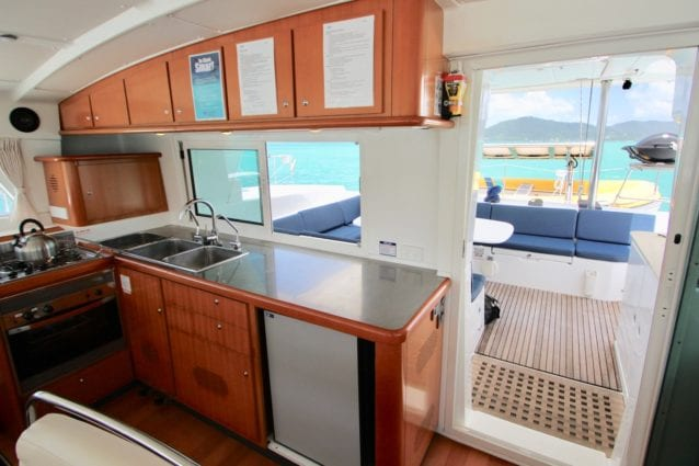 Whitsunday Escape Lagoon 440 Galley Bareboat Charter Australia