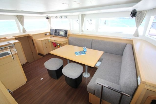 Whitsunday Escape Lagoon 450 Flybridge Saloon & Navigation Table
