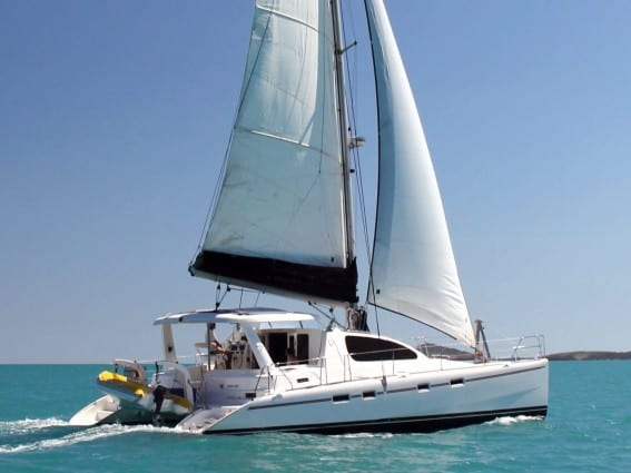 Whitsunday Escape sailing catamaran Leopard 43 Bareboat Charter Hire Queensland
