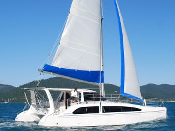 Seawind 1160 catamaran for bareboat holiday hire Whitsunday Escape