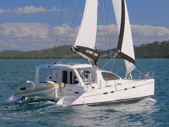 Whitsunday Escape Leopard 43 sailing catamaran for hire bareboat holidays Airlie Beach