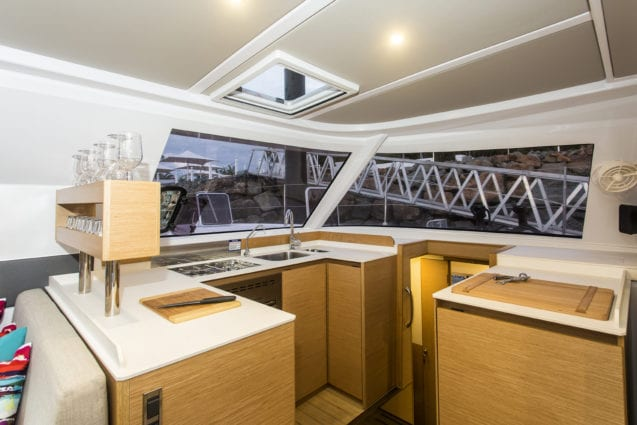 Whitsunday Escape Nautitech Open 40 galley