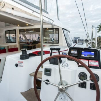 Whitsunday Escape Nautitech Open 40 starboard helm