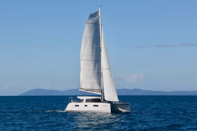 Whitsunday Escape Nautitech Open 40 bareboat holiday Airlie Beach yacht for rent