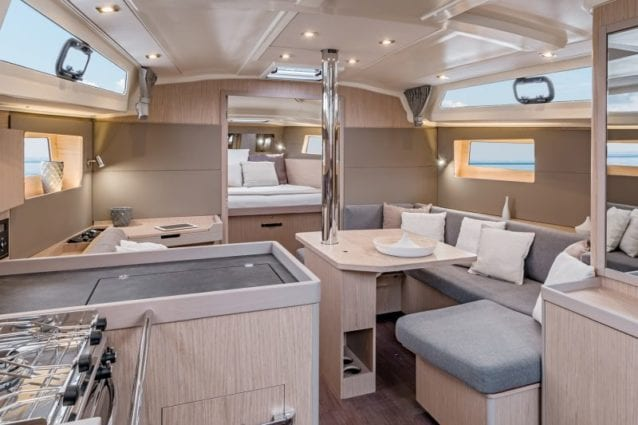 Whitsunday Escape Sailing Yacht Beneteau 41.1 Galley and Saloon