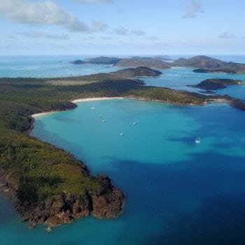 Aerial Views Chance Bay Whitsunday Island