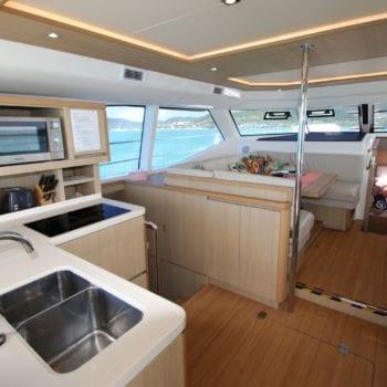 Whitsunday Escape Aquila 44 Power Catamaran Galley to Saloon