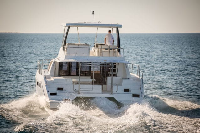 Whitsunday Escape Leopard 43 Power Catamaran underway (manufacturer's photo)