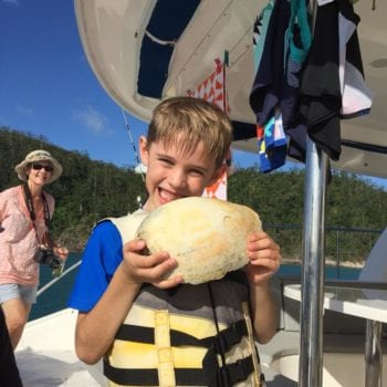 grandma and grandson went beach combing and found this awesome shell