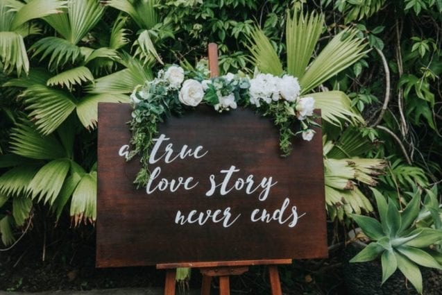 Wedding Sign CO Event Company Whitsundays
